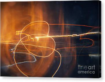Abstract Light Streaks Canvas Print by Pixel Chimp
