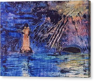 Abstract Lighthouse Canvas Print by Dariusz Gudowicz