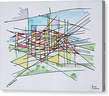 Abstract Line Drawing Of Saint Paul De Canvas Print