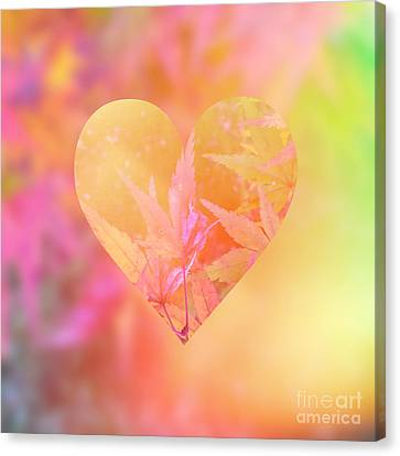 Abstract Maple Leaf Magic 4 Canvas Print by Beverly Claire Kaiya