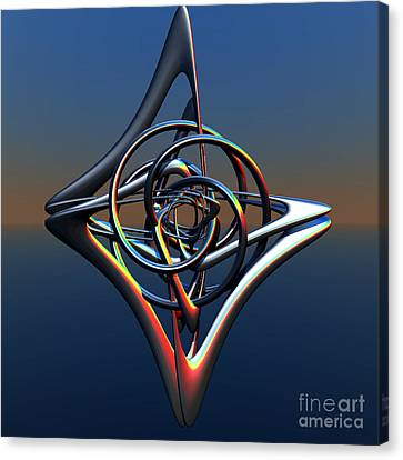 Canvas Print featuring the digital art Abstract Metal by Melissa Messick