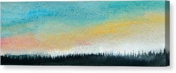 Abstract Minimalist Horizon Canvas Print by R Kyllo