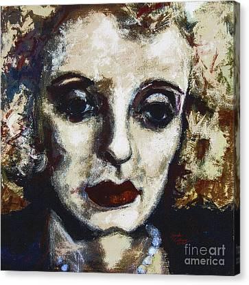 Abstract Modern Bette Davis Canvas Print by Ginette Callaway