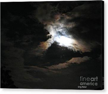 Abstract Moon Canvas Print by Greg Patzer
