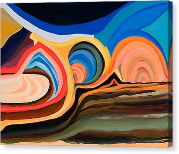Abstract Mountain And Seascape Canvas Print