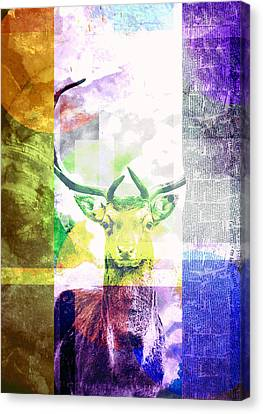 Abstract Nature Deer Portrait Canvas Print