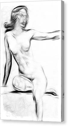 Abstract Nude 2 Canvas Print by Steve K