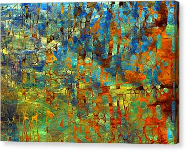 Abstract Number Four Canvas Print