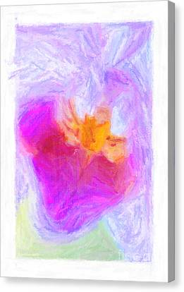 Abstract Orchid Pastel Canvas Print by Antony McAulay