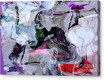 Abstract Organic Intuitive # 11 Canvas Print by Ginette Callaway
