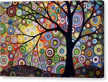 Abstract Original Modern Tree Landscape Visons Of Night By Amy Giacomelli Canvas Print by Amy Giacomelli