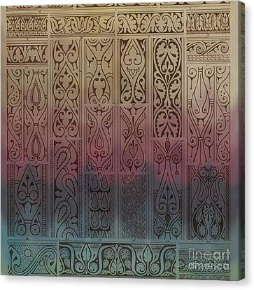 Abstract Ornamental Motif With Absratct Mood Canvas Print by Art World