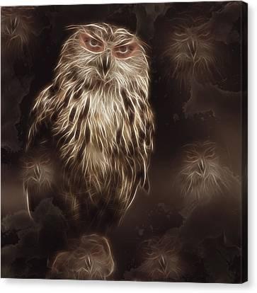Abstract Owl Digital Artwork Canvas Print