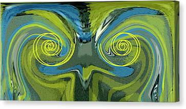 Abstract Owl Portrait Canvas Print by Ben and Raisa Gertsberg