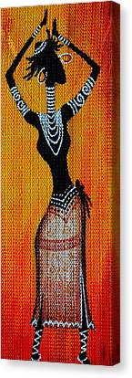 Abstract Painting On Textured Sheet Canvas Print by Deepa