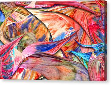 Abstract - Paper - Origami Canvas Print by Mike Savad