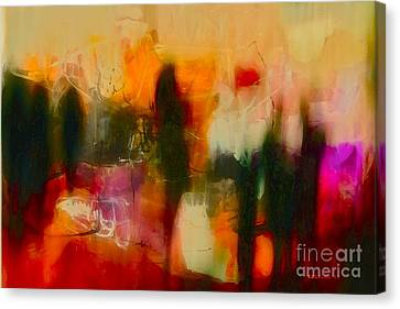 Canvas Print featuring the photograph Abstract People by Danica Radman