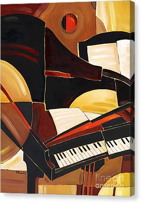 Abstract Piano Canvas Print by Paul Brent