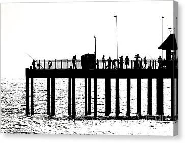 Abstract Pier Canvas Print by David Warrington