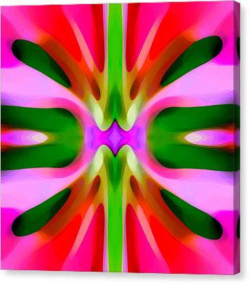 Abstract Pink Tree Symmetry Canvas Print by Amy Vangsgard