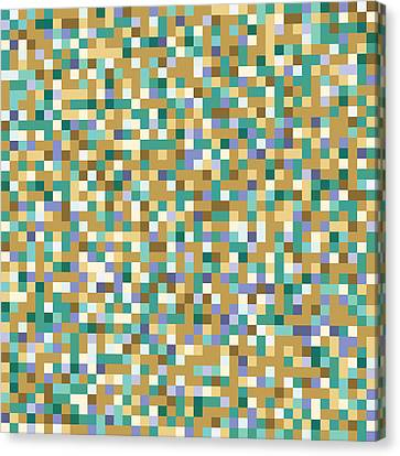 Canvas Print featuring the digital art Abstract Pixels by Mike Taylor