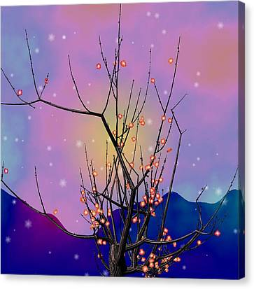 Abstract Plum Canvas Print by GuoJun Pan