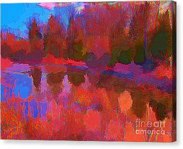 Abstract Pond Canvas Print by John Malone