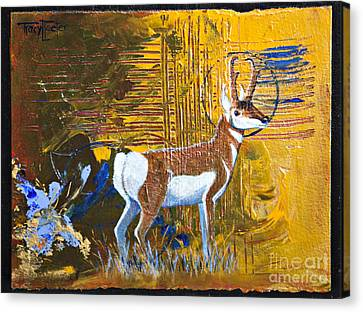 Pronghorn Antelope Canvas Print - Abstract Pronghorn Antelope by Tracy L Teeter