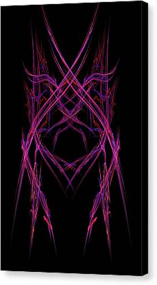 Computer Graphics Canvas Print - Abstract Purple Alien Face On Black Background by Keith Webber Jr