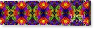 Abstract - Rainbow Connection - Panel - Panorama - Vertical Canvas Print by Andee Design