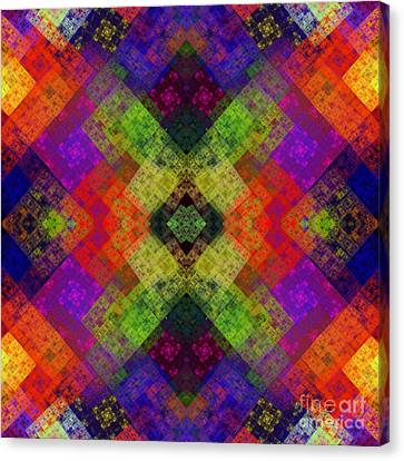 Abstract - Rainbow Connection - Square Canvas Print by Andee Design
