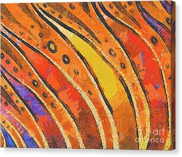 Abstract Rainbow Tiger Stripes Canvas Print by Pixel Chimp
