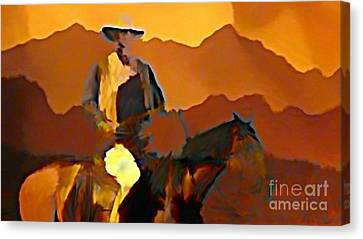 Abstract Range Riding Canvas Print by John Malone