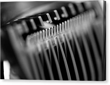 Mike Taylor Canvas Print - Abstract Razor by Mike Taylor