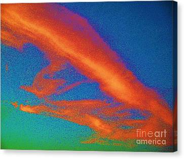 Abstract Red Blue And Green Sky Canvas Print