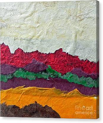Abstract Red Hills Canvas Print