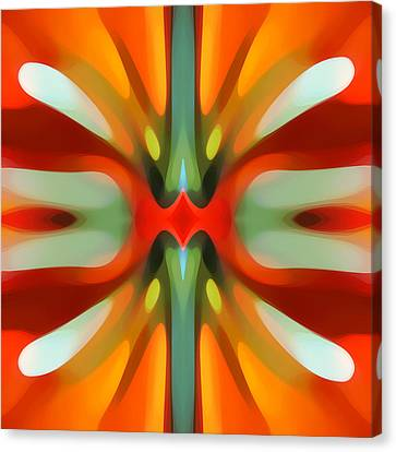 Abstract Digital Canvas Print - Abstract Red Tree Symmetry by Amy Vangsgard