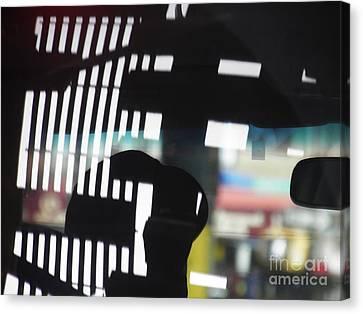 Abstract Reflection 18 Canvas Print by Sarah Loft