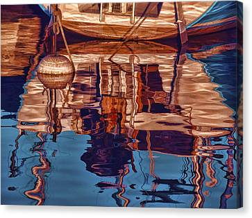 Canvas Print featuring the painting Abstract Reflections by Muhie Kanawati