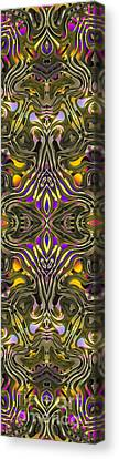 Abstract Rhythm - 33 Canvas Print by Hanza Turgul