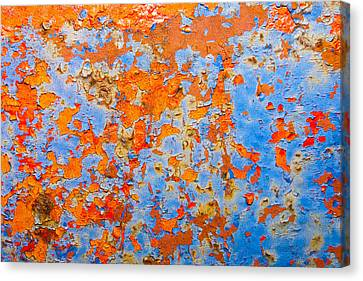 Abstract - Rust And Metal Series Canvas Print by Mark Weaver