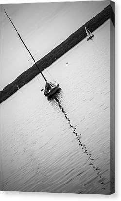 Abstract Sailing Boat Canvas Print
