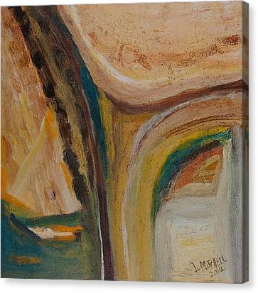 Abstract Sand Mix Canvas Print