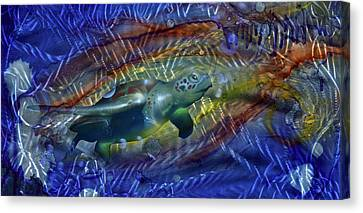 Abstract Sea Turtle 1 Canvas Print by Luis  Navarro