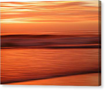 Abstract Seascape At Sunset Canvas Print