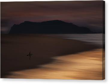 Canvas Print featuring the photograph Abstract Shoreline 73a0160 by David Orias