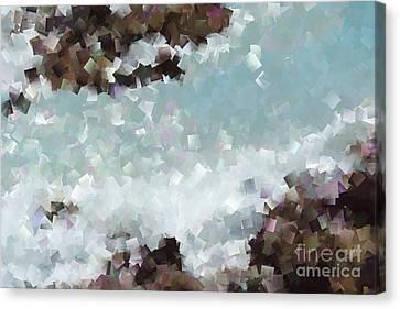 Abstract Shores Canvas Print