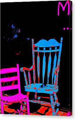 Abstract Sitdown And M Canvas Print by Kathy Barney