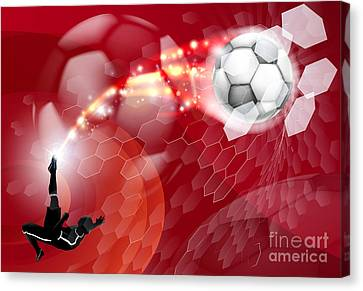 Abstract Soccer Sport Background Canvas Print by Christos Georghiou