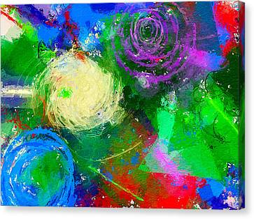 Abstract Space 1 Canvas Print by Yury Malkov